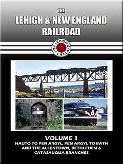Lehigh & New England Railroad Volume 1 DVD Train Video John Pechulis Media LNEV1