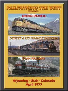 Railfanning the West Vol 1 Wyoming Utah Colorado April 1977 DVD Train Video John Pechulis Media RFTWV1