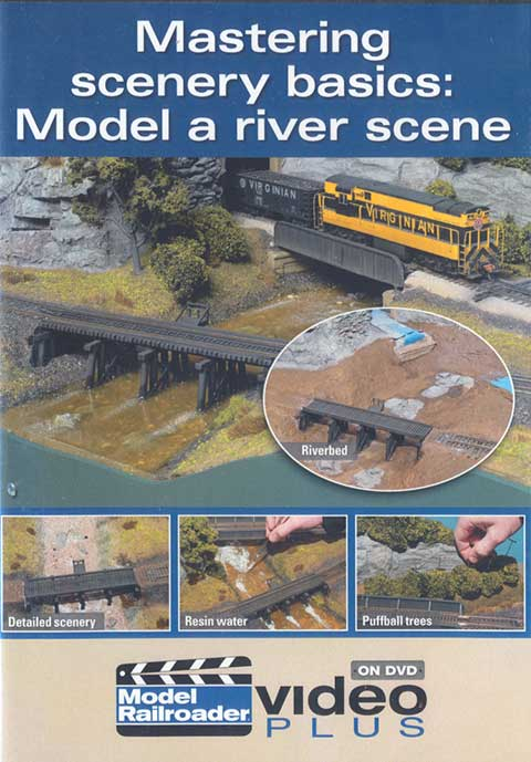 Mastering scenery basics: Model a river scene DVD Train Video Kalmbach Publishing 15302 644651153021