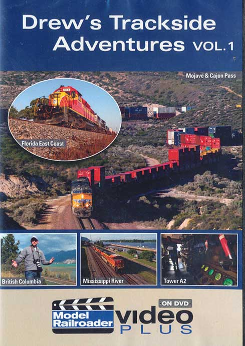 Drews Trackside Adventures Vol 1 DVD Train Video Kalmbach Publishing 15308 644651153083
