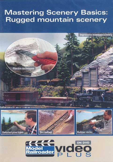 Mastering Scenery Basics: Rugged mountain scenery DVD - OUT OF PRINT LIMITED STOCK Kalmbach Publishing 15314 644651153144