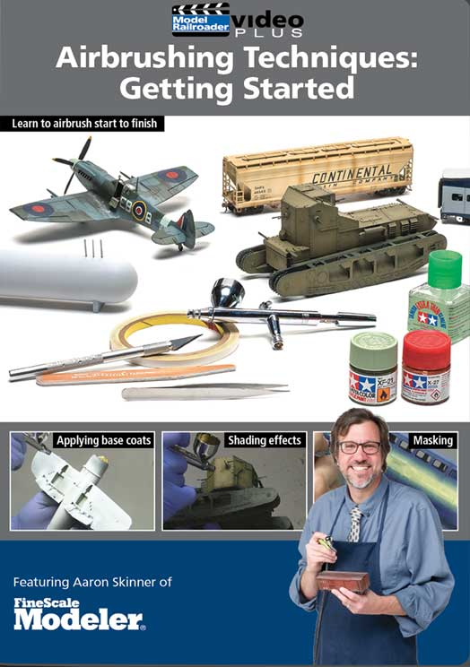 Airbrushing Techniques - Getting Started DVD Kalmbach Publishing 15347 644651600341