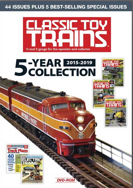 Classic Toy Trains 5-Year Collection 2015-2019 DVD-ROM Kalmbach Publishing 15360 644651601072