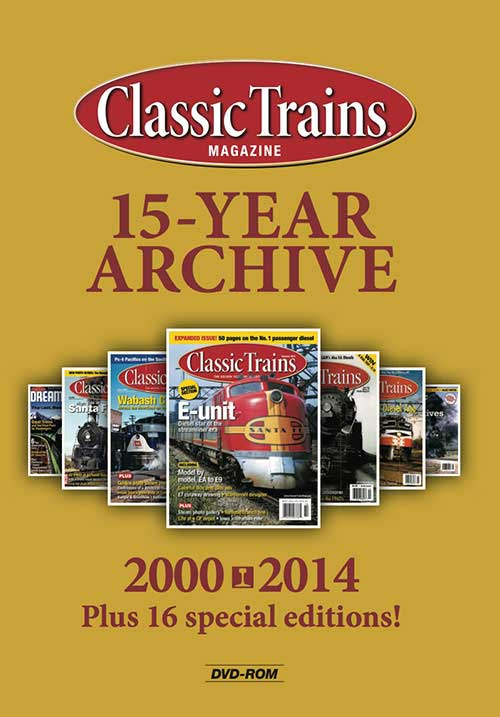 Classic Trains 15-Year Archive on DVD-ROM Kalmbach Publishing 15112 644651151126
