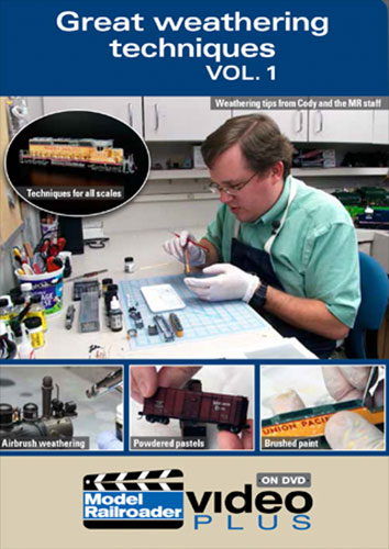 Great Weathering Techniques Vol 1 DVD Train Video Kalmbach Publishing 15323 644651153236