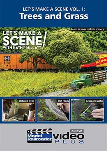 Lets Make a Scene Vol 1 Trees and Grass DVD Kalmbach Publishing 15352 644651600860
