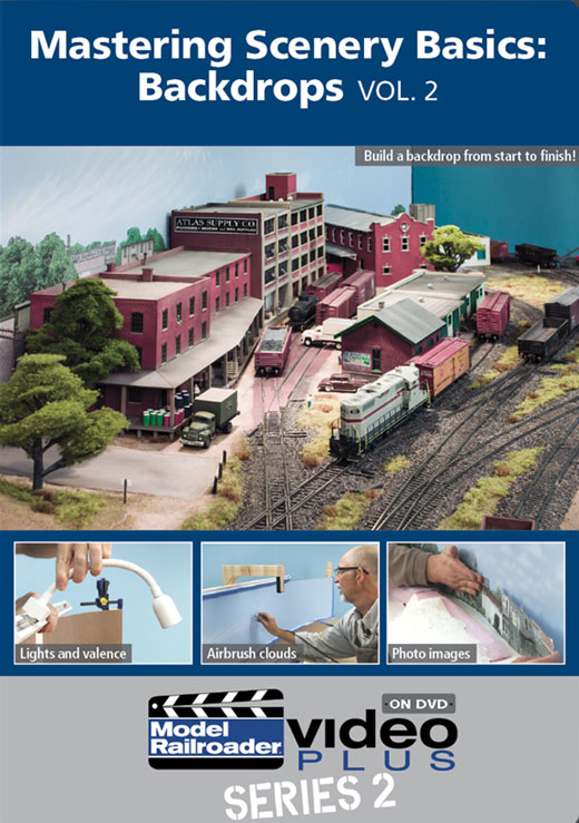 Mastering Scenery Basics - Backdrops Vol 2 DVD Train Video Kalmbach Publishing 15335 064465153350