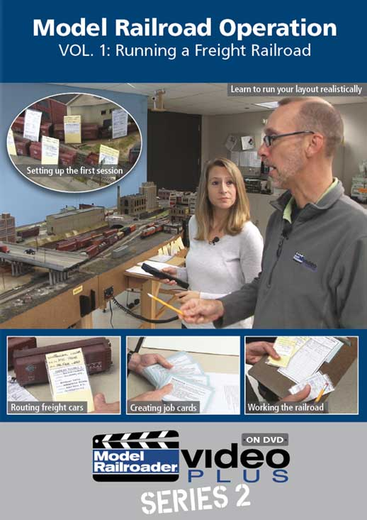 Model Railroad Operation Vol 1 - Running A Freight Railroad DVD Kalmbach Publishing 15342 644651153427