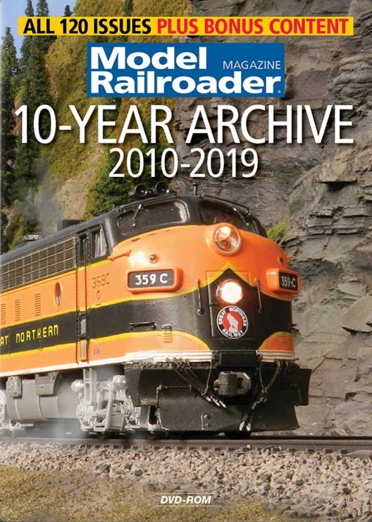 Model Railroader 10-Year Archive 2010-2019 DVD-ROM Kalmbach Publishing 15361 644651601089
