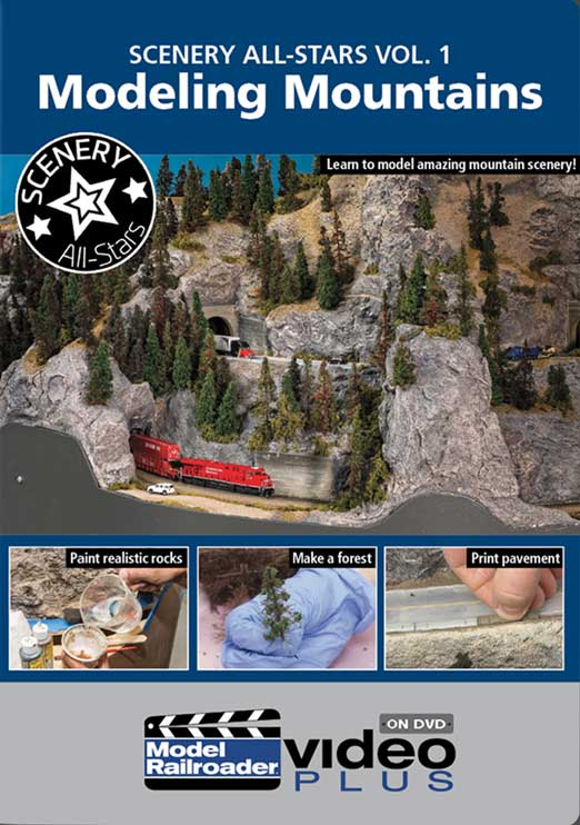 Scenery All-Star Vol 1 - Modeling Mountains DVD Kalmbach Publishing 15349 644651600440