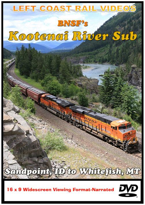 BNSFs Kootenai River Sub DVD Train Video Left Coast Rail Videos KRSDVD