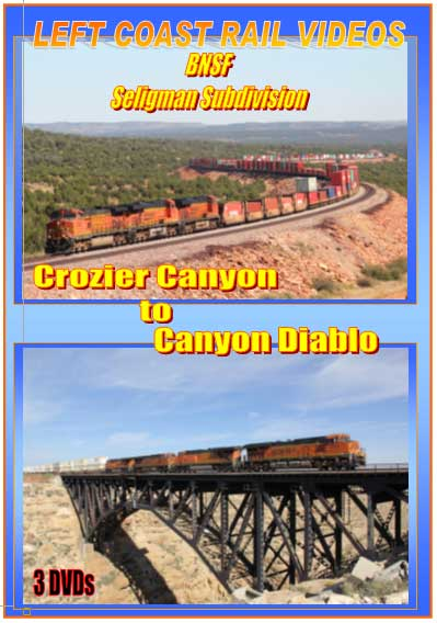 BNSF Seligman Sub Crozier Canyon to Canyon Diablo DVD 3 Discs Train Video Left Coast Rail Videos LC-CCCD