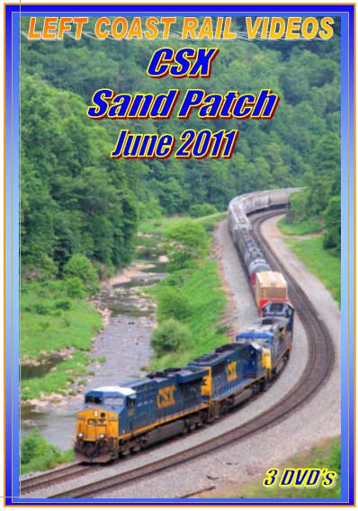 CSX Sand Patch June 2011 3 Disc Collection DVD Train Video Left Coast Rail Videos LC-CSX11