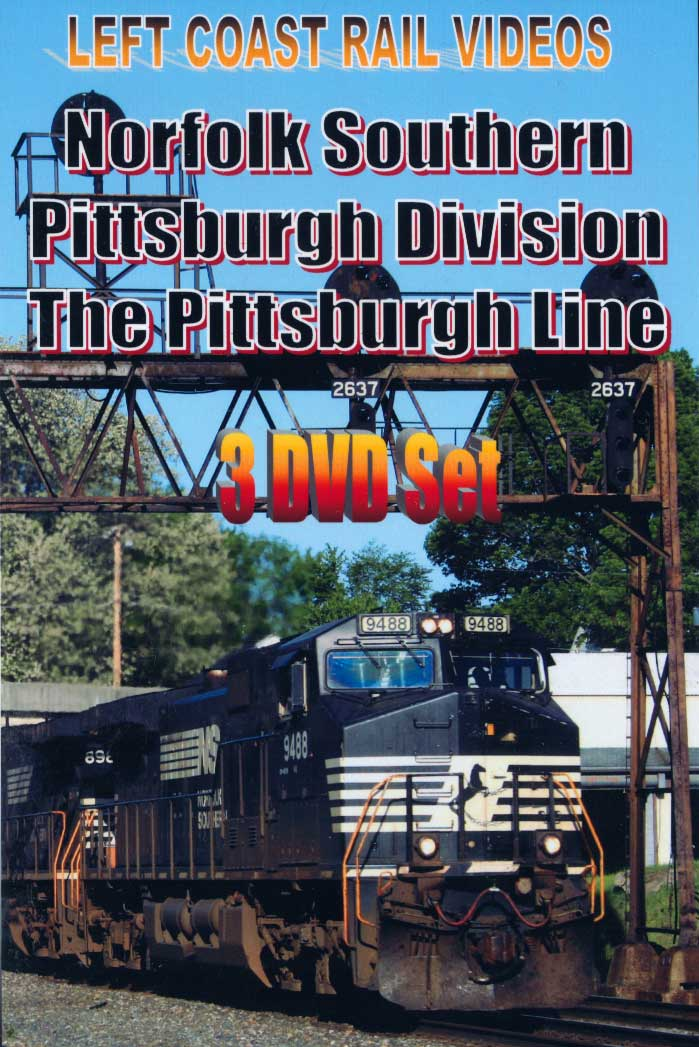Norfolk Southern Pittsburgh Division 3 DVD Set Train Video Left Coast Rail Videos LC-NSPITT