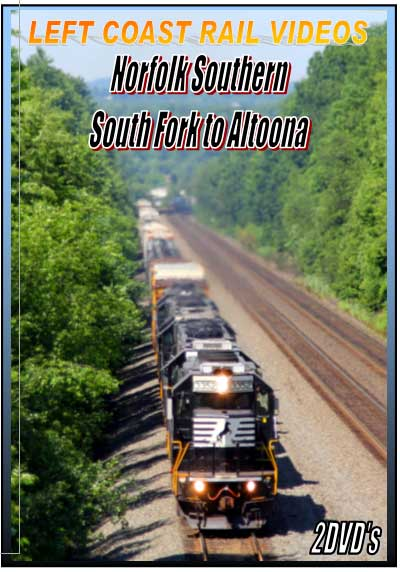 Norfolk Southern South Fork to Altoona 2 DVD Collection Train Video Left Coast Rail Videos LC-NSSFA