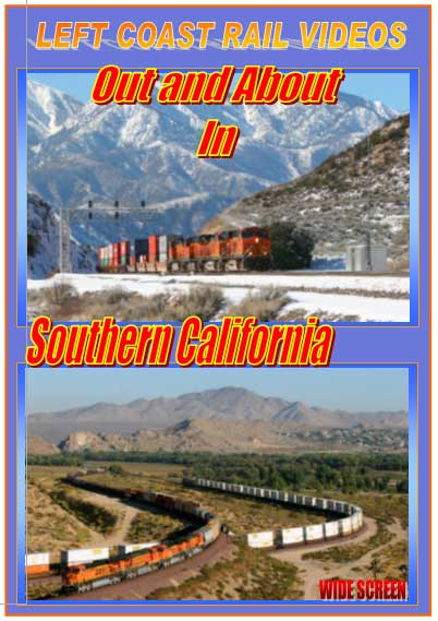 Out and About in Southern Calfornia 3-Disc DVD Train Video Left Coast Rail Videos LC-OASC