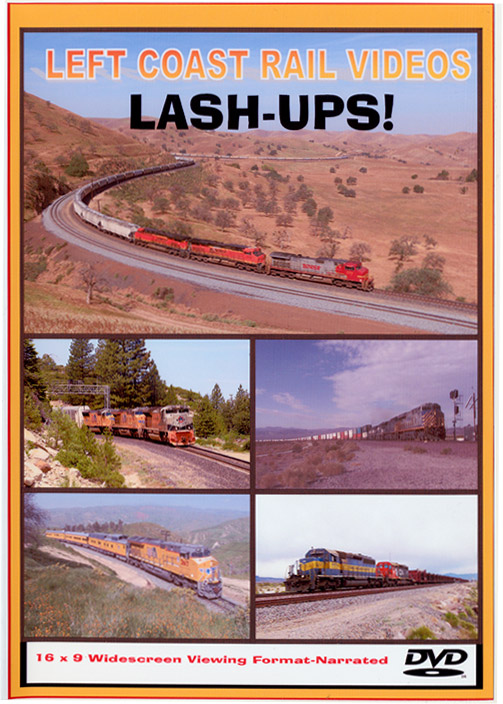 Lash-Ups! 2-disc DVD Left Coast Rail Videos LUDVD