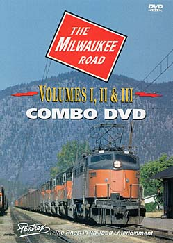 Milwaukee Road Combo DVD Train Video Pentrex MILW-DVD 748268003943