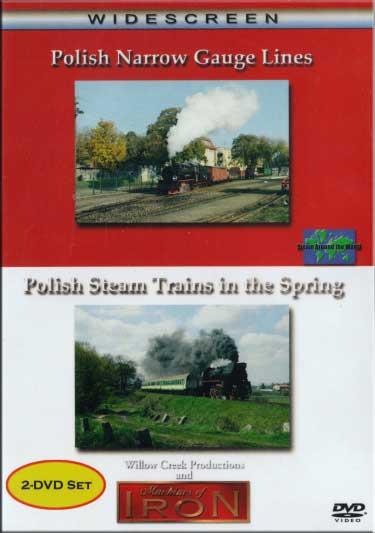 Polish Narrow Gauge Lines & Polish Steam Trains in Spring 2 disc Set DVD Machines of Iron POLSETDR 608938303561
