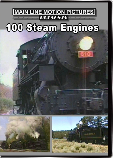 100 Steam Engines DVD Main Line Motion Pictures ML100SE