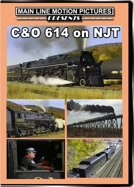 C&O 614 on NJT Main Line Motion Pictures ML614