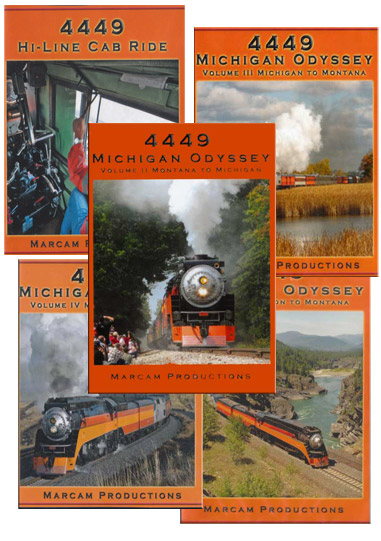 4449 Michigan Odyssey Complete 5 DVD Collection Vol 1-5 Train Video Marcam Productions 4449MICHSETDVD
