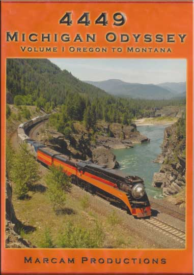 4449 Michigan Odyssey Volume 1 Oregon to Montana Train Video Marcam Productions 4449MICHV1DVD 850075002146
