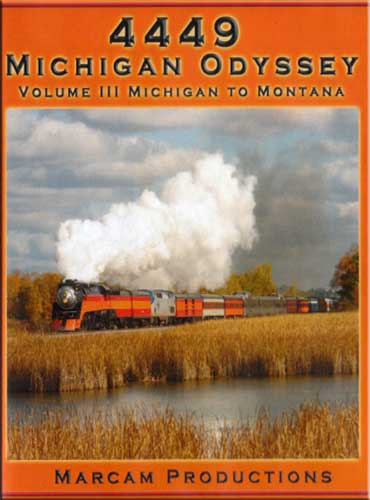 4449 Michigan Odyssey Vol 3 Michigan to Montana DVD Train Video Marcam Productions 4449MICHV3DVD 850075002160