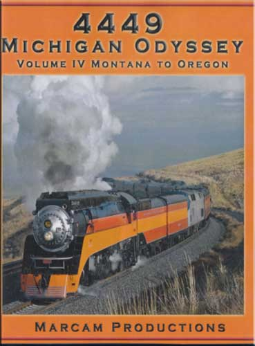 4449 Michigan Odyssey Vol 4 Montana to Oregon DVD Train Video Marcam Productions 4449MICHV4DVD 850075002177