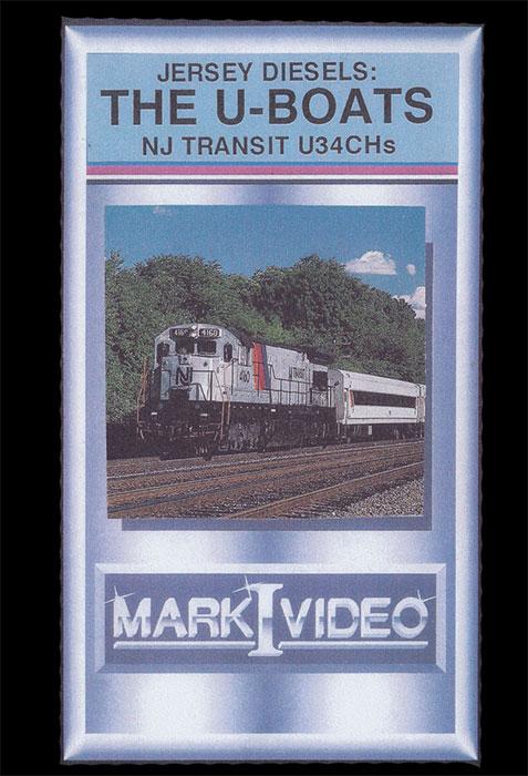 Jersey Diesels The U-Boats NJ Transit U34CHs DVD Mark I Video M1JDUB
