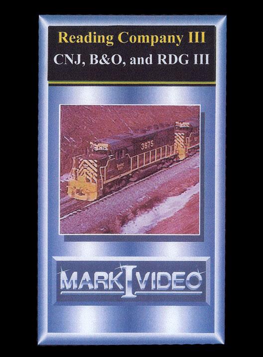 Reading Company 3 CNJ B&O and RDG 3 DVD Mark I Video M1RDC3