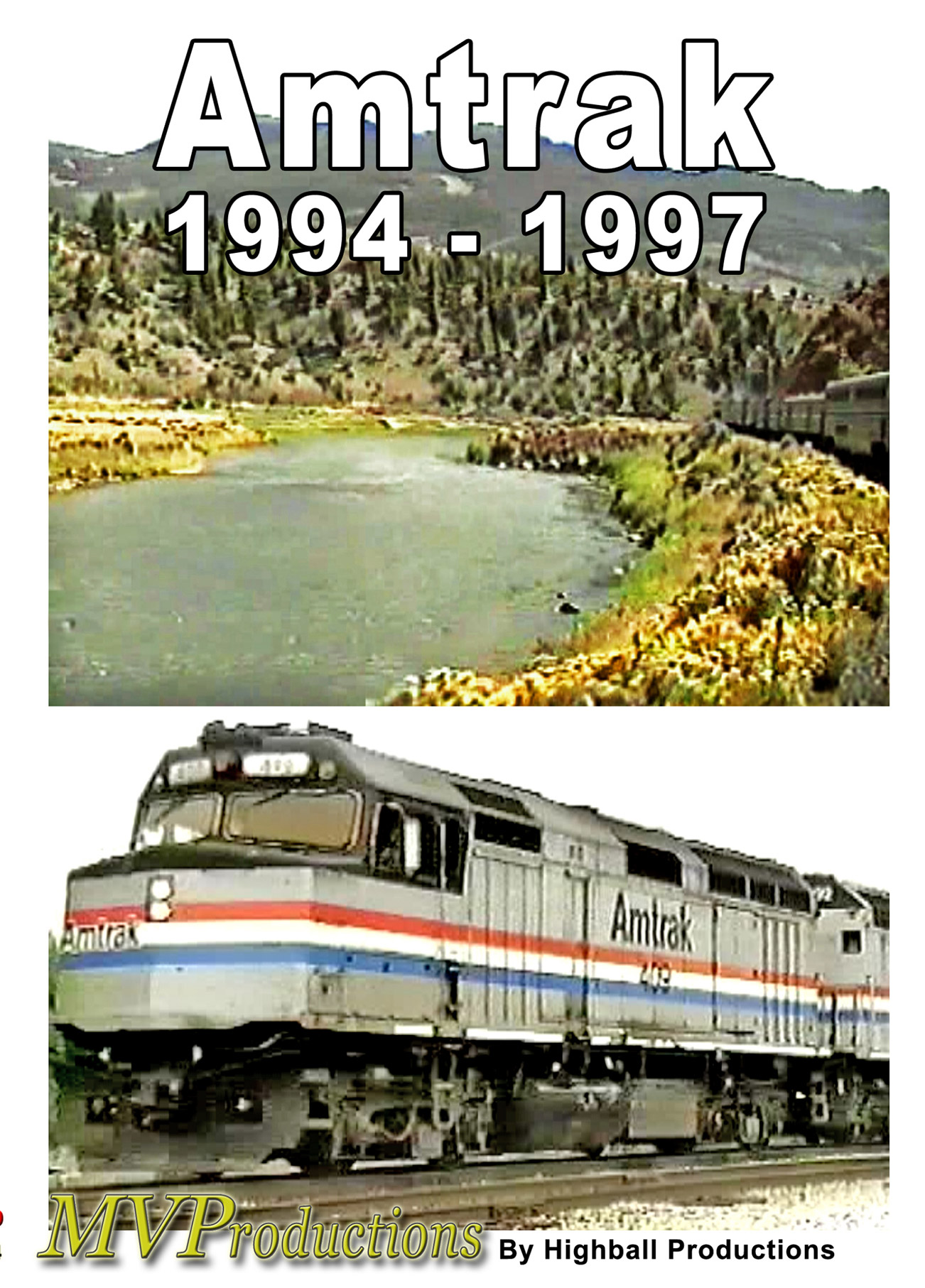 Amtrak 1994 to 1997 Train Video Midwest Video Productions MVAM94 601577880035