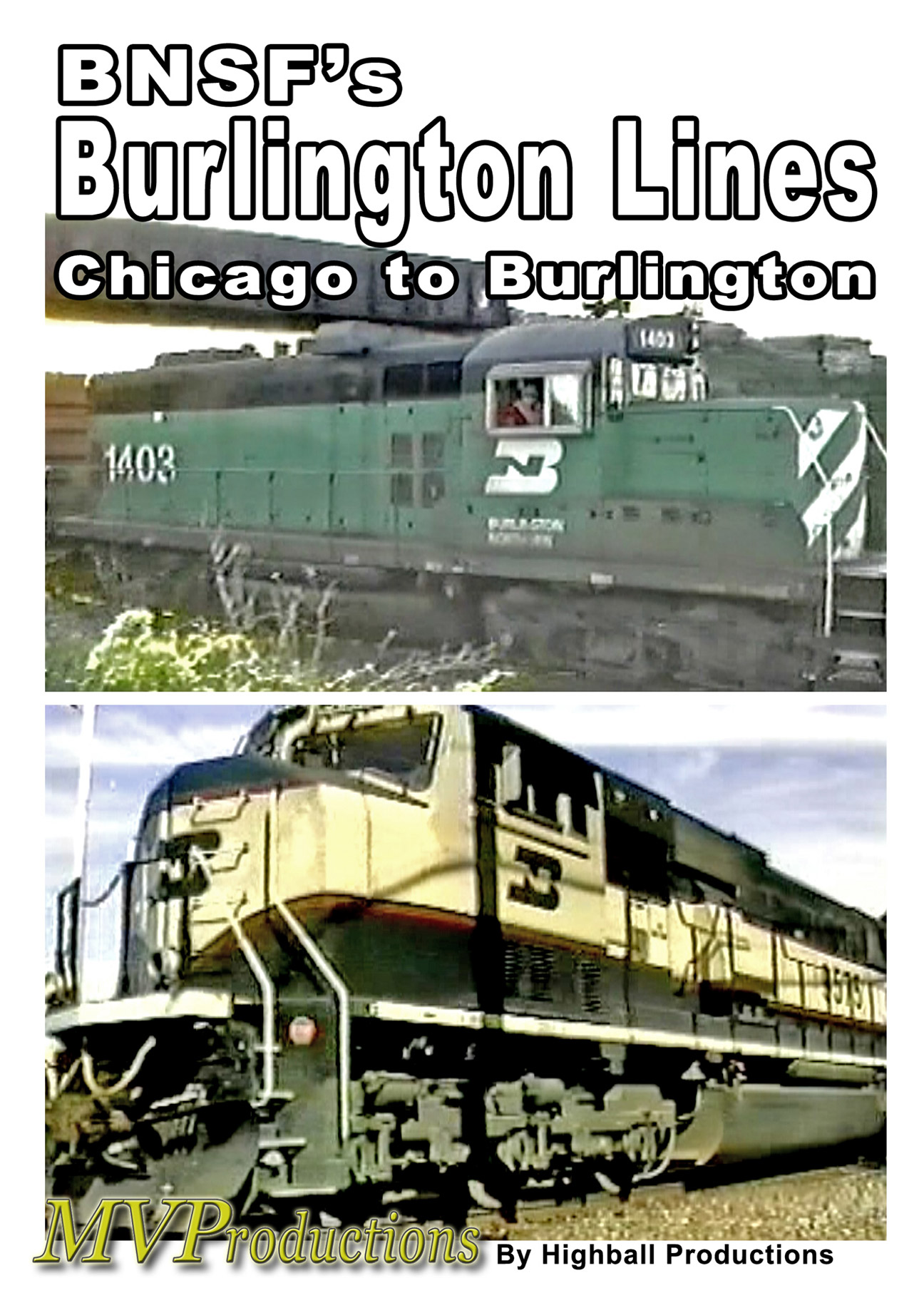 BNSF Burlington Lines Train Video Midwest Video Productions MVBBL 601577880097