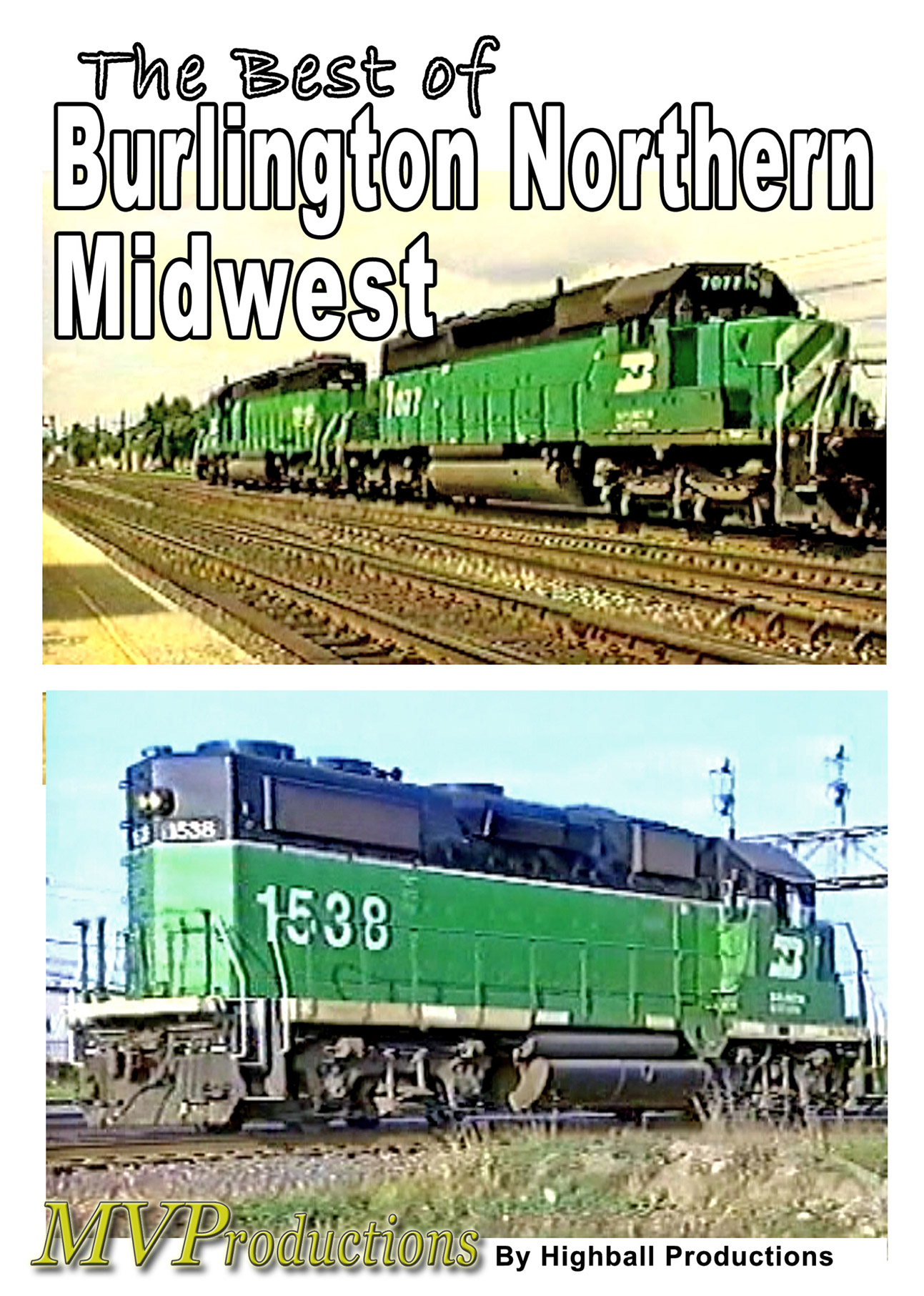 Best of Burlington Northern - Midwest Midwest Video Productions MVBBN 601577880110