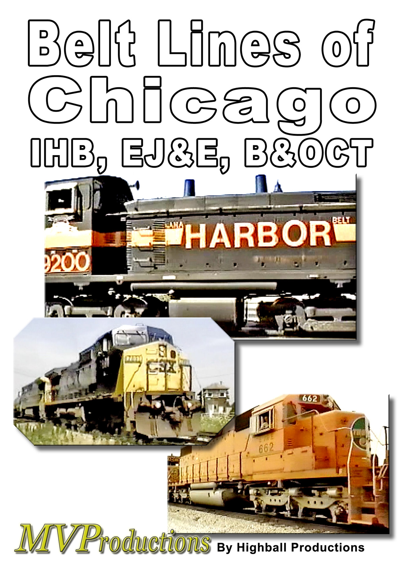 Belt Lines of Chicago Train Video Midwest Video Productions MVBLOC 601577880226