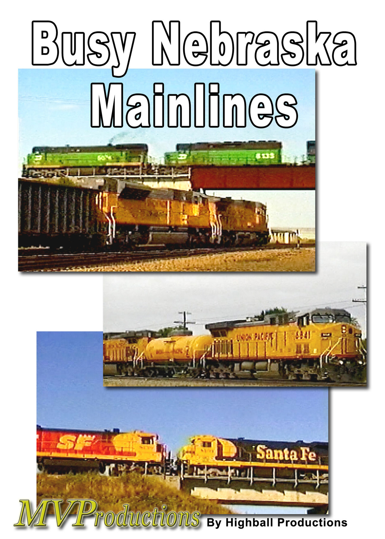 Busy Nebraska Mainlines Train Video Midwest Video Productions MVBNM 601577880271