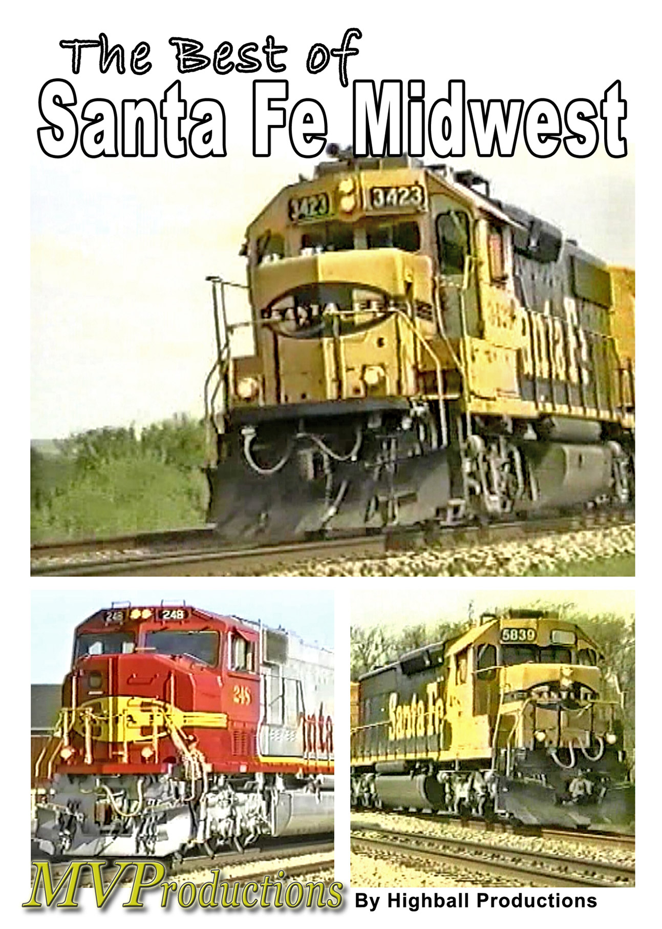 Best of Santa Fe - Midwest Train Video Midwest Video Productions MVBSF 601577880141