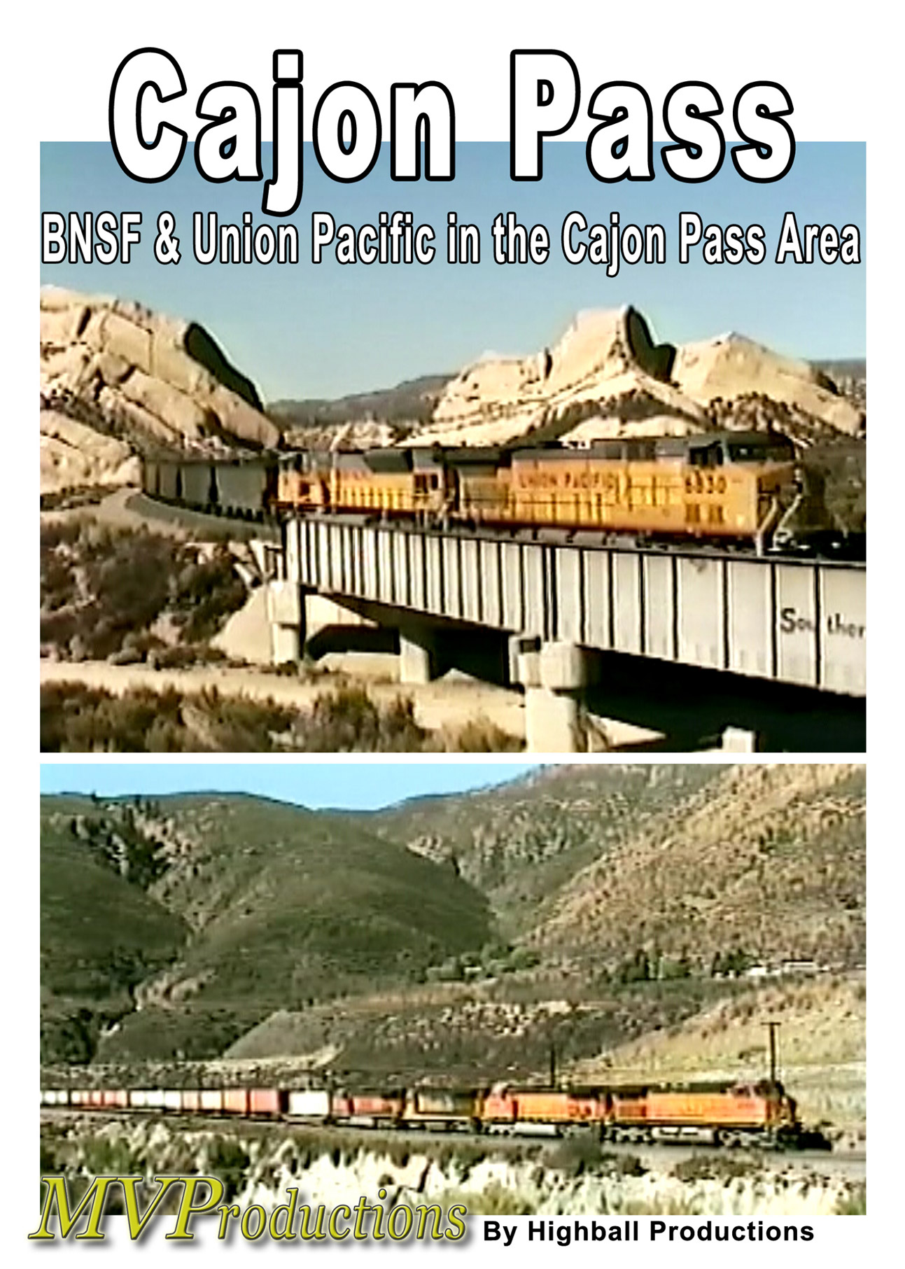 BNSF and Union Pacific at Cajon Pass Train Video Midwest Video Productions MVCAJ 601577880189