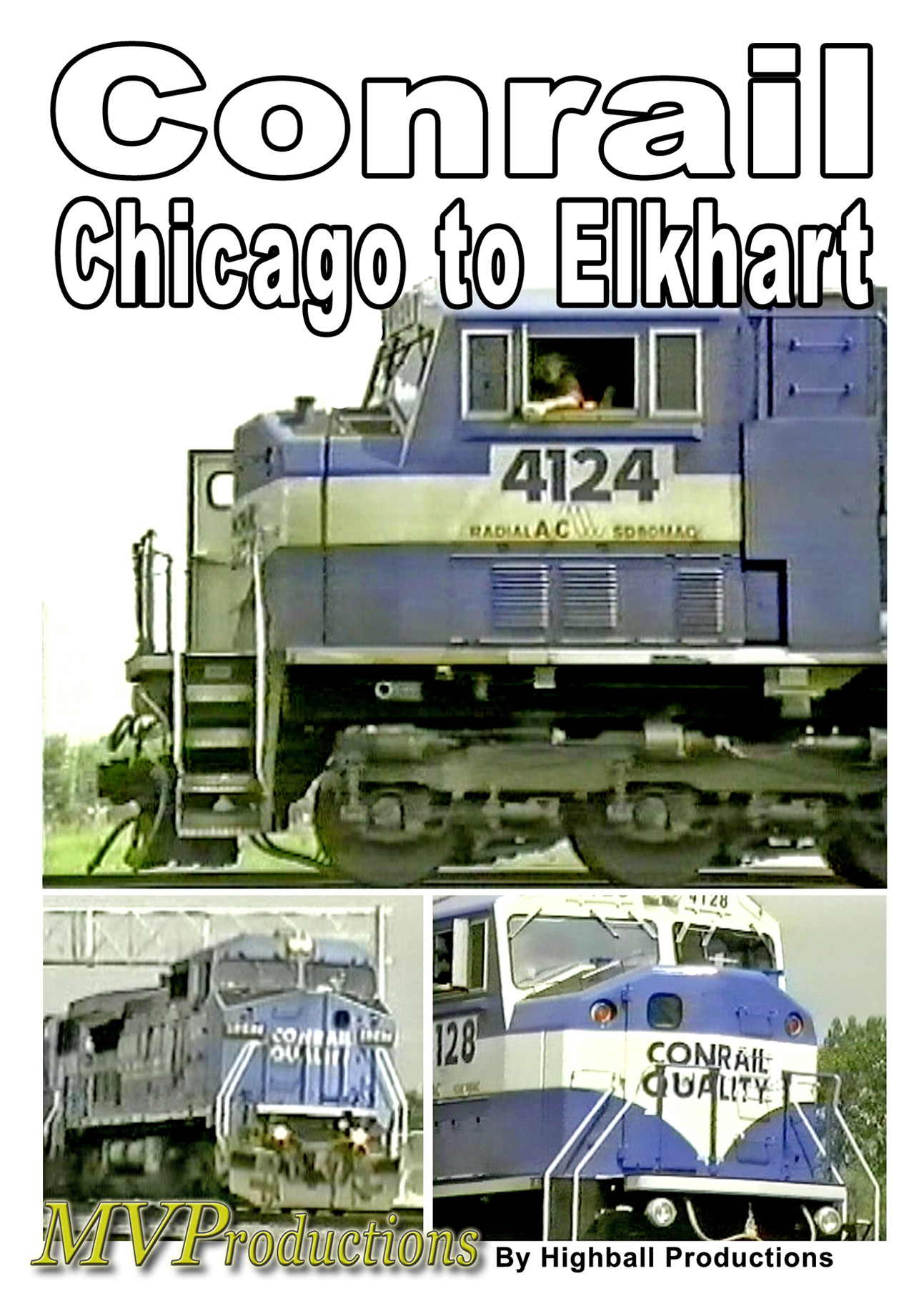 Conrail Chicago to Elkhart Train Video Midwest Video Productions MVCCE 601577880240