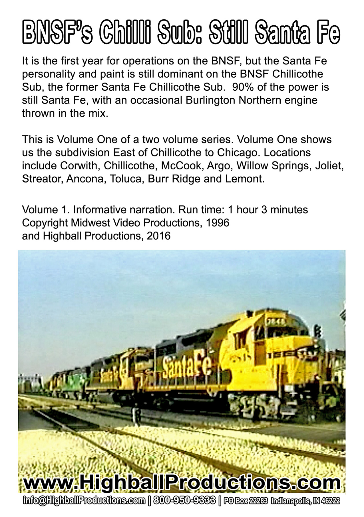 BNSF Chillicothe Sub: Still Santa Fe Volume 1, East of