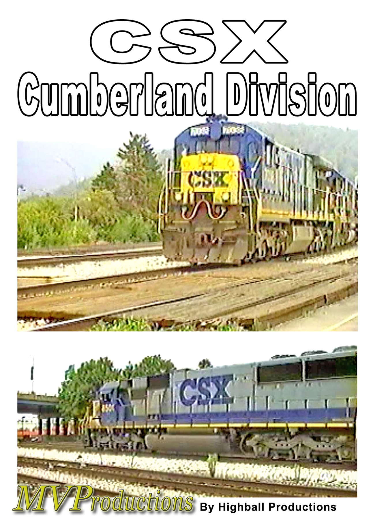 CSX Cumberland Division Train Video Midwest Video Productions MVCUM 601577880004