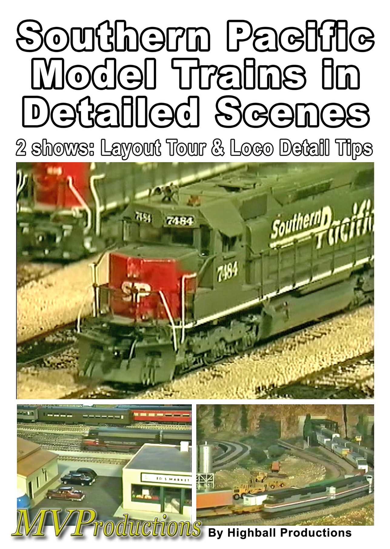 Southern Pacific Model Trains in Detailed Scenes Train Video Midwest Video Productions MVMRC 601577880059