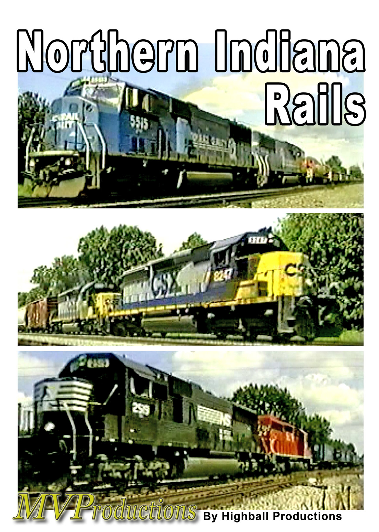 Northern Indiana Rails Train Video Midwest Video Productions MVNIR 601577880264
