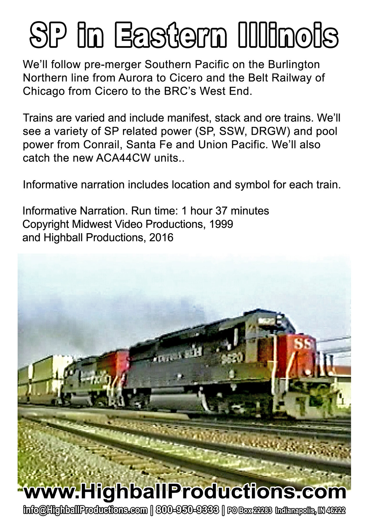 Southern Pacific Eastearn Illinois Dvd Train Video