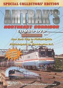 Amtraks Northeast Corridor Combo DVD Train Video Pentrex NEX12-DVD 748268004599
