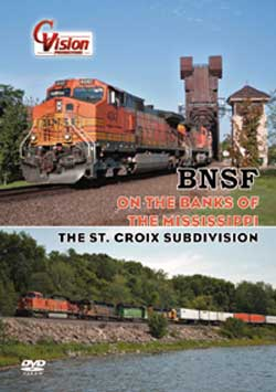 BNSF On the Banks of the Mississippi DVD C Vision Productions OBMDVD