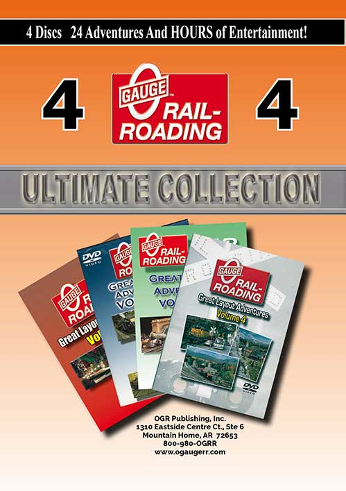 Great Layout Adventures Ultimate Collection 4 DVD Set OGR Publishing GLA-UC