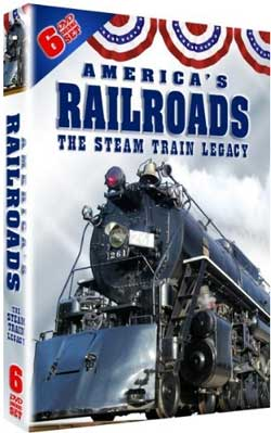 Americas Railroads The Steam Train Legacy 6-DVD Box Set Train Video Misc Producers 628053 011301628053