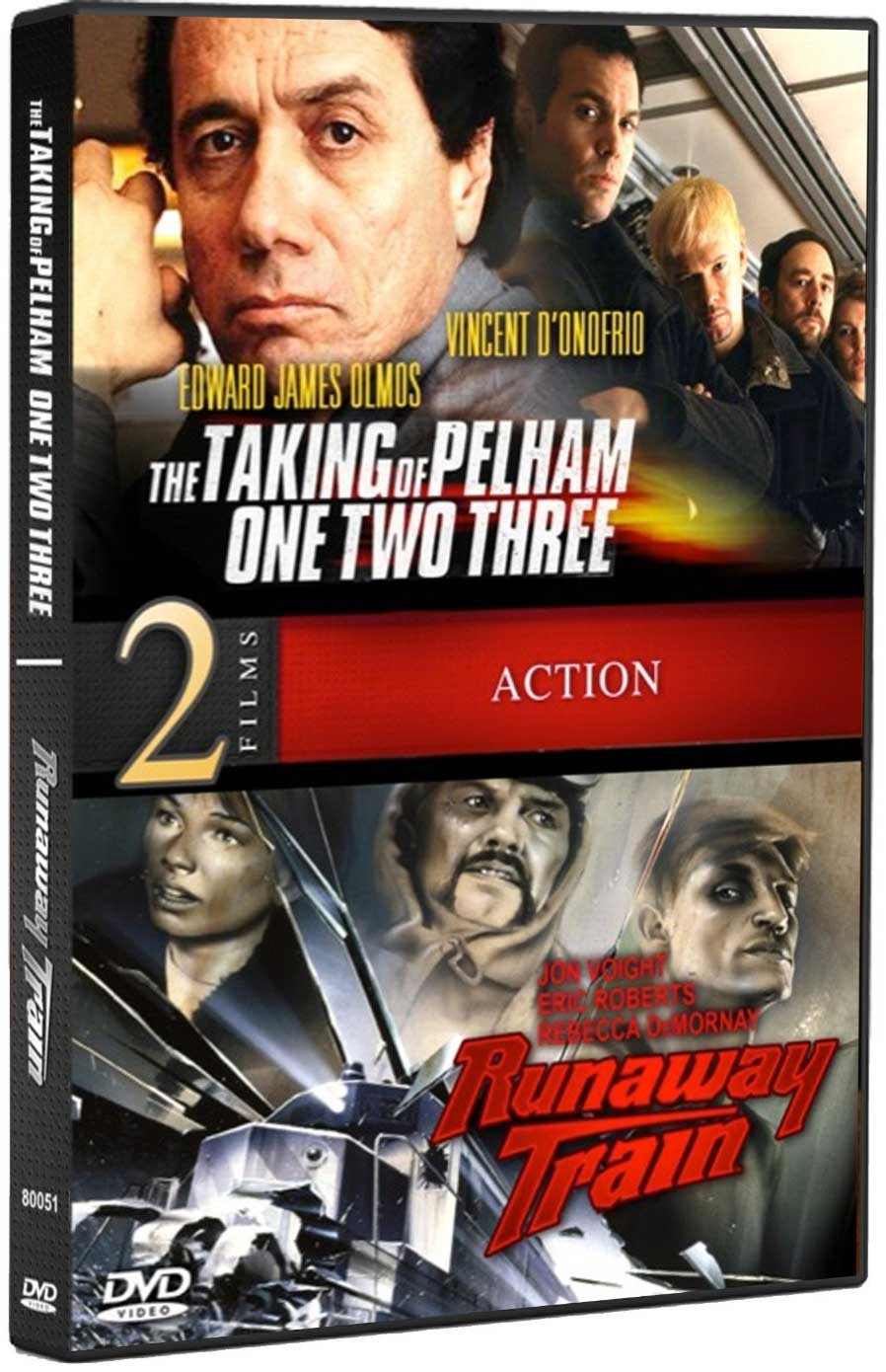 Movie: Runaway Train & The Taking of Pelham One Two Three DVD Train Video Misc Producers 80051 011891800518