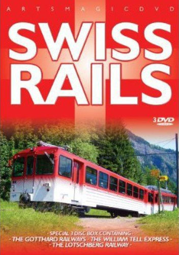 Swiss Rails 3 DVD Set Gotthard William Tell and Lotschberg Train Video Misc Producers AWA350 881482335091